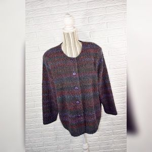 Vtg First Option Too!   Multicolored Wool Jacket